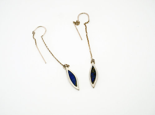 Feather Earrings = lapis  / KSJ - Kendra Studio Jewellery