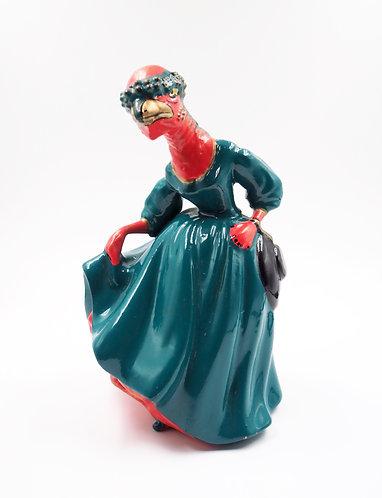 """Victorian Stegoceras Lady"" Ceramic Figurine"