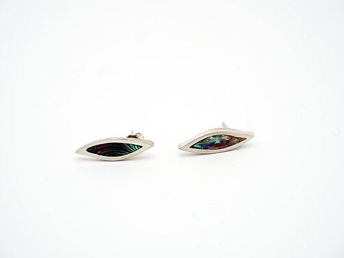 Circle Earrings = malachite  / KSJ - Kendra Studio Jewellery