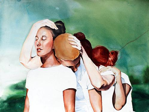 """""""RELAY"""" Original Watercolor Painting"""