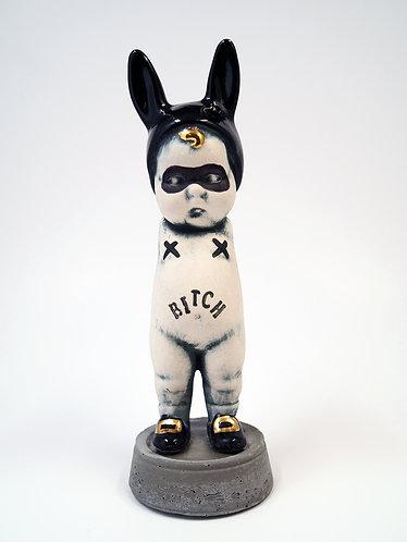 """""""Bitch"""" BunBun Sculpture Figure"""