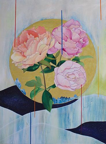 """Pivoines"" Acrylic Painting"