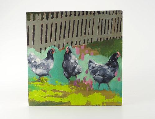 Neon Chickens / Caitlin Tibbs