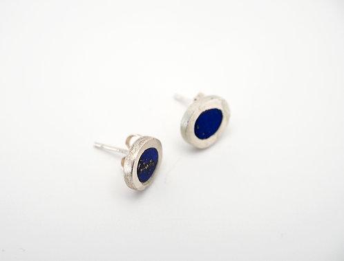 Circle Earrings = lapis / KSJ - Kendra Studio Jewellery