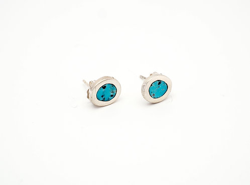 Circle Earrings = turquoise  / KSJ - Kendra Studio Jewellery