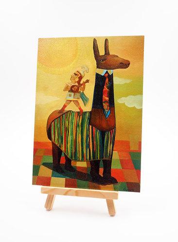 """""""El Retorno Del Chasqui"""" Acrylic Painting"""