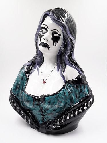 """Goth Spanish Lady"" Ceramic Figurine | Artist: Tom LaBonty"