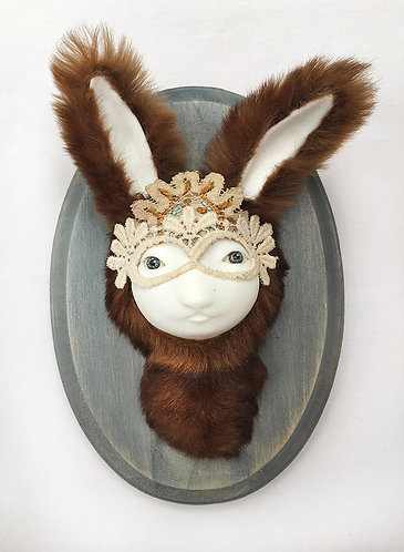 """Fluffy Brown Bunny Faux"" Curious Taxidermy Figure / Artist: Margaret Meyer"