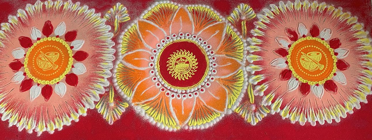 3 folk art rangoli design