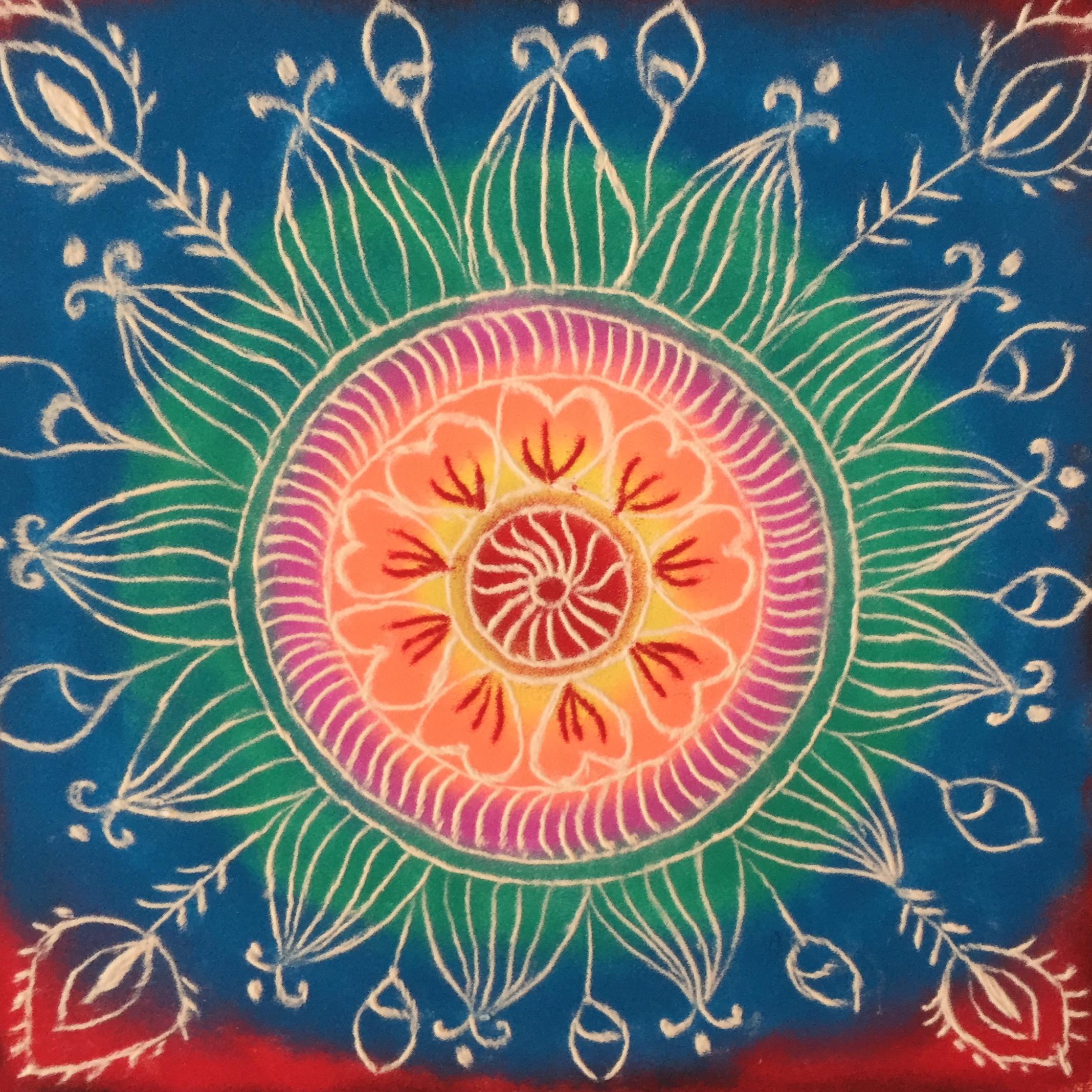5 folk art lotus mandala