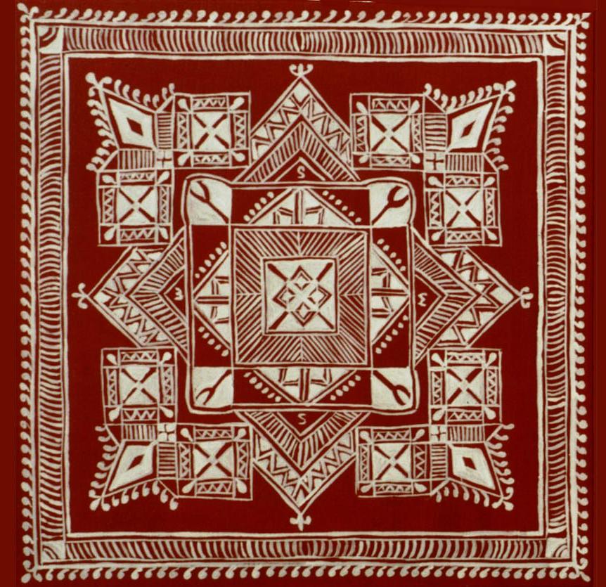 9 folk art mandana