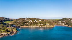 New Home aerial photography Salcombe
