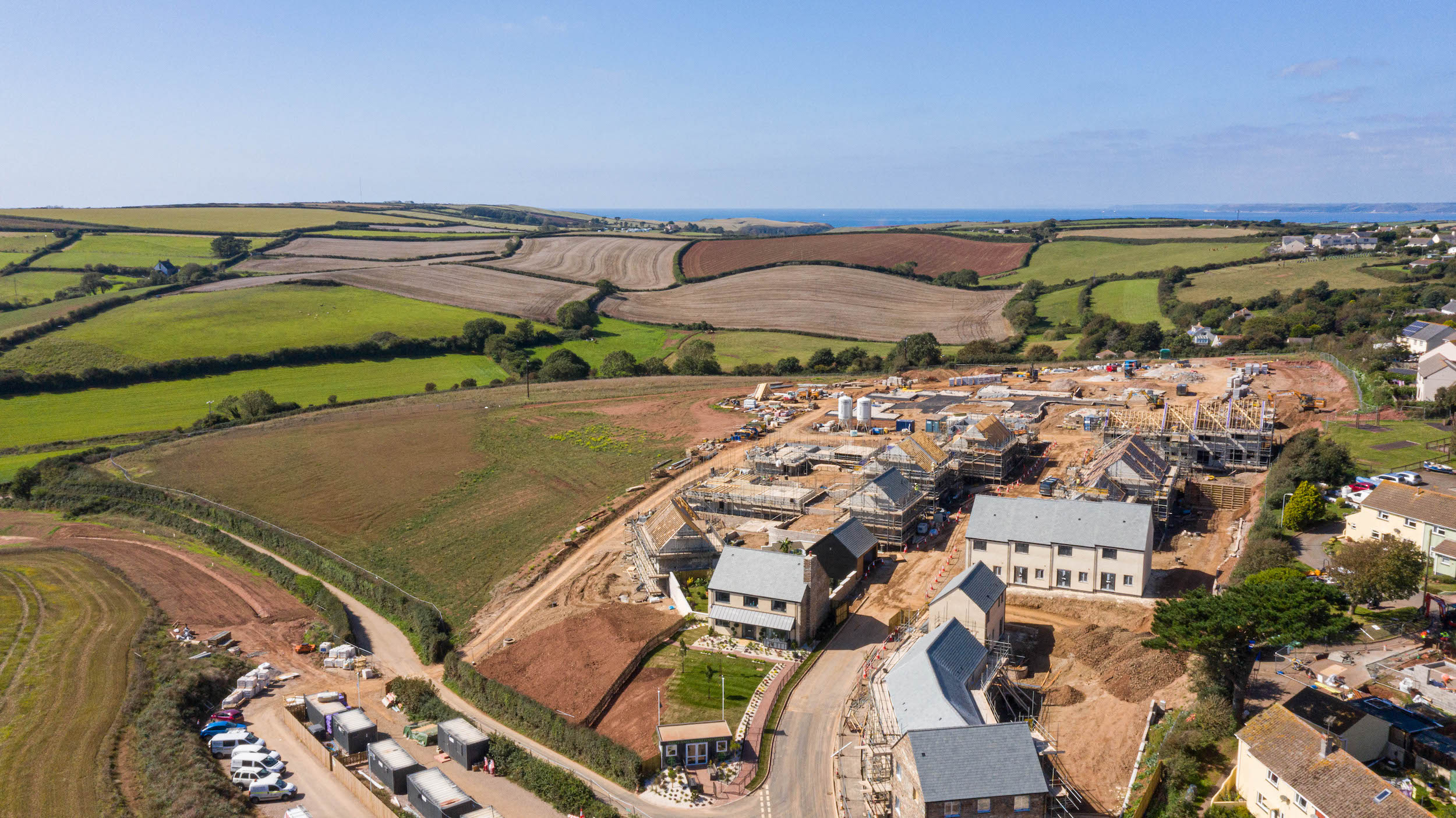New Homes aerial photography devon