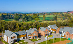 New Home aerial photography Exeter