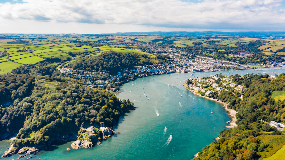 Dartmouth, Devon Aerial photography - Ki
