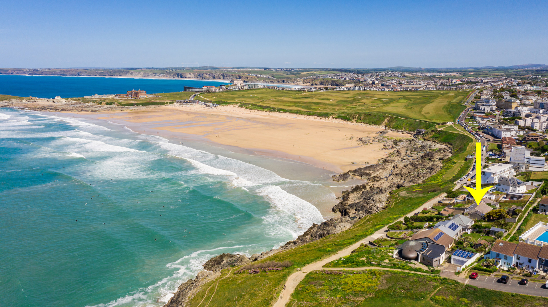 aerial photography of property for estate agents cornwall