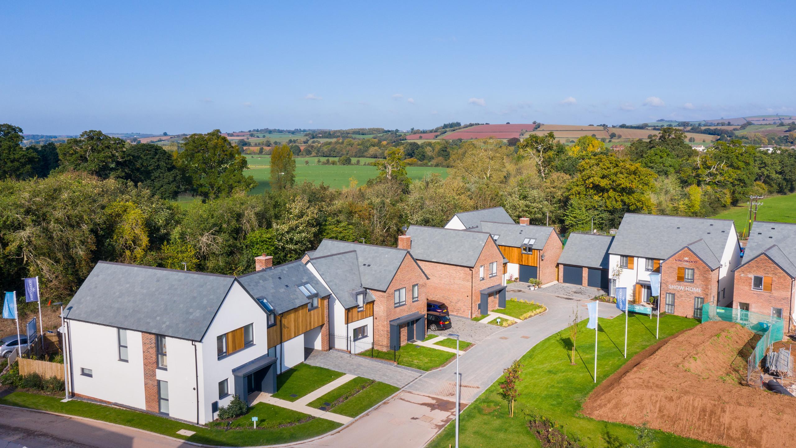 Aerial Photography - Housing development, Exeter, Devon