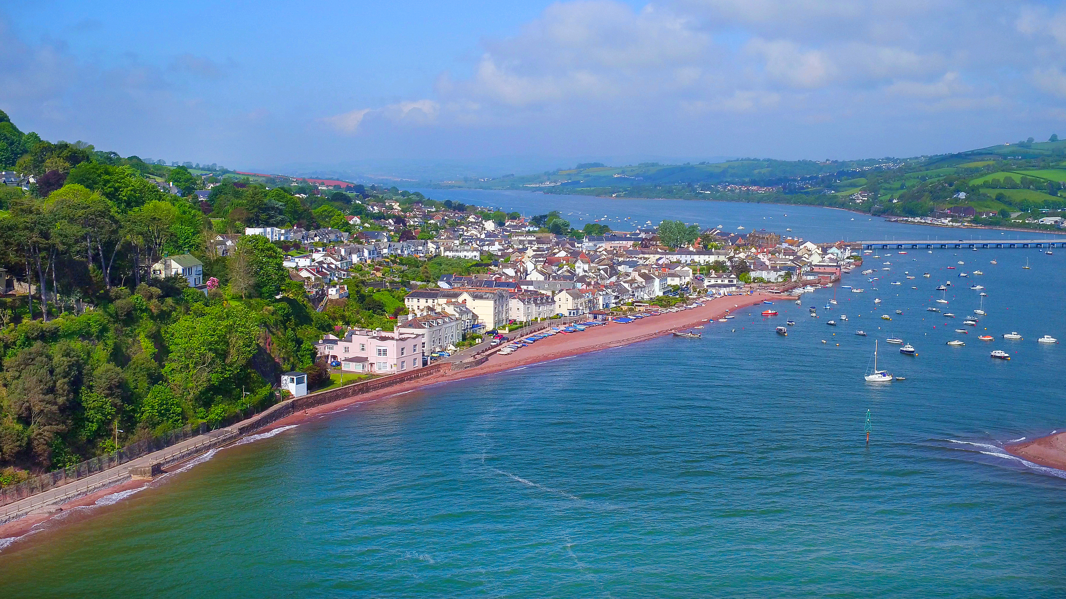 Shaldon, Teignmouth aerial photo