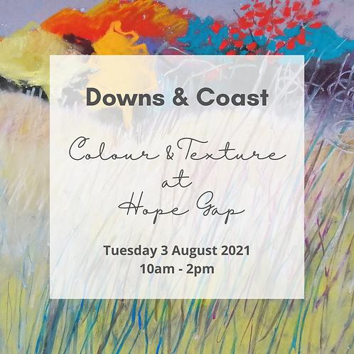 Downs & Coast - Sketching at Hope Gap 3 Aug 2021