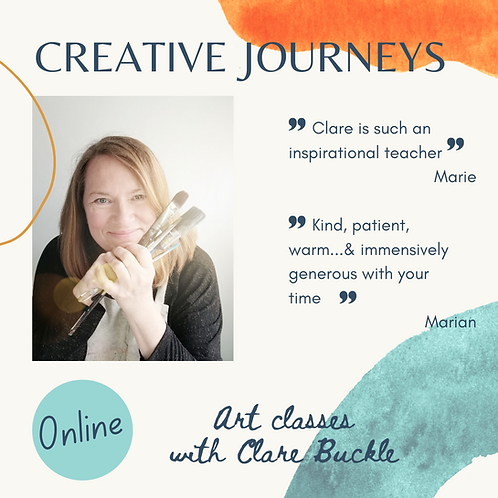 Creative Journeys 10-week art course - Mon 3.30pm BST from 27 Sept 2021