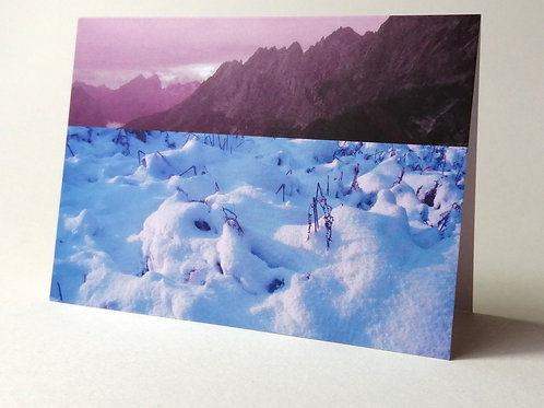'Rock & Snow' greeting card