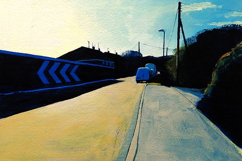 'Daily Lockdown Walk II' - acrylic on paper 190 x 265mm