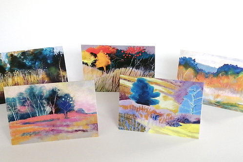 Set of 5 cards - Sussex landscapes