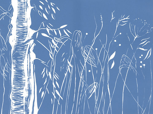 'Autumn Dusk' - relief print on paper 210 x 295mm