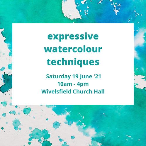 Expressive Watercolour - Saturday 19 June 2021