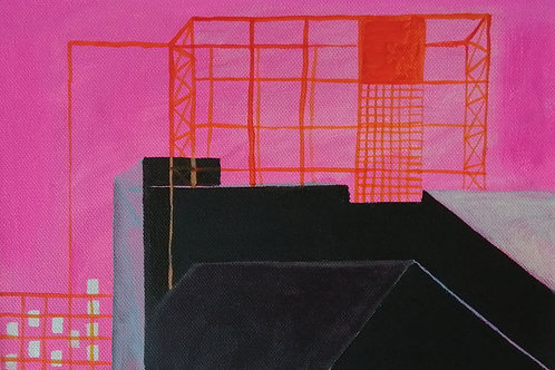 Power Station Dream I - acrylic on canvas 210 x 297mm