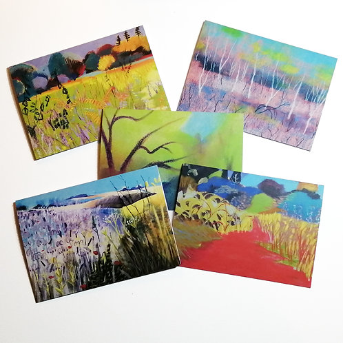 Set of 5 cards - Summer Landscapes