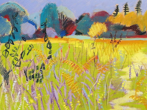 'Chailey Common V - ADDER' - pastel on paper 240 x 300mm