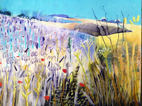 'Double Gloucester and Borage' - pastel on paper 240 x 300mm
