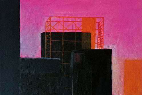 Power Station Dream II - acrylic on canvas 210 x 297mm