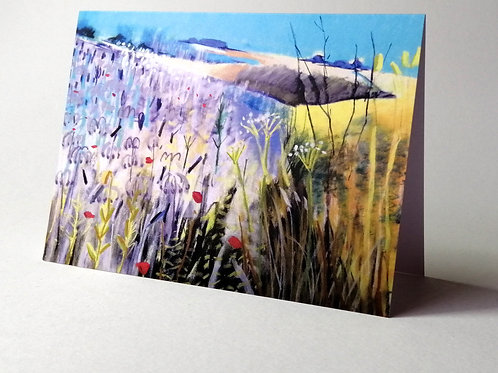 'Double Gloucester & Borage' greeting card