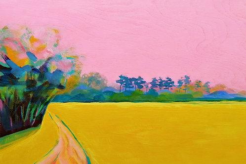 'Field' - acrylic on board 297 x 419mm