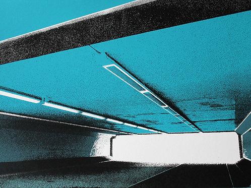 'Underpass' - screenprint on paper 263 x 360mm
