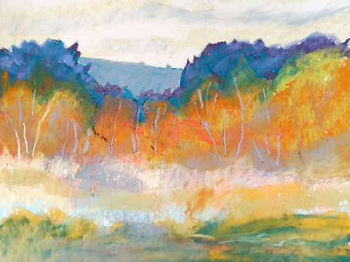 'Chailey Common I' - pastel on paper 240 x 300mm