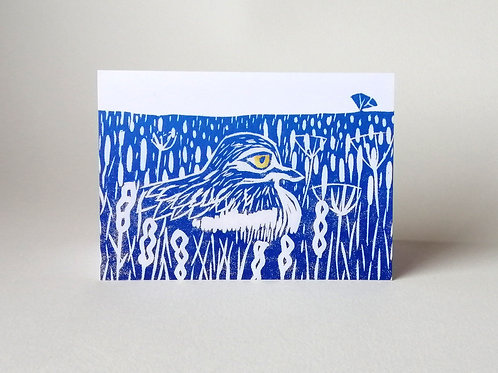 'Stone Curlew' greeting card
