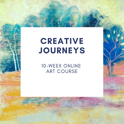 Creative Journeys online art course - Tuesdays 2pm BST starts 13 April 2021