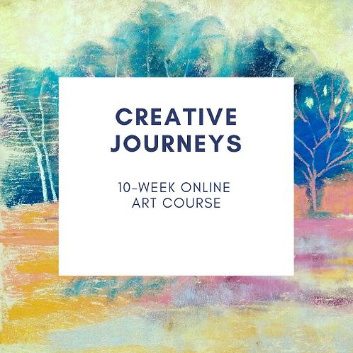 Creative Journeys online art course - Tuesdays 10am BST starts 13 April 2021