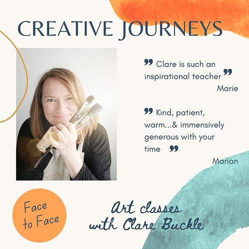Creative Journeys 10-wk art course Chailey Village Hall 1.15-3.45 Tues