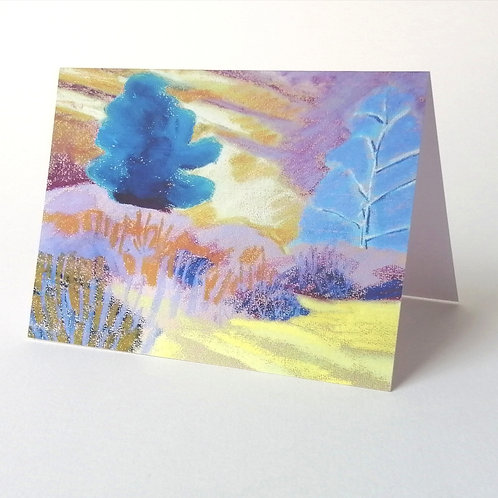 'Heather at Old Lodge' greeting card