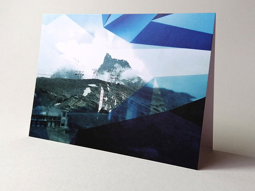 'Mountain Experience' greeting card