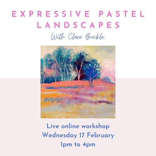 Online workshop - Expressive Pastel Landscapes - Wednesday 17 February 1pm-4pm