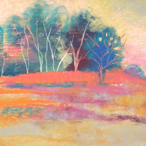 'Chailey Common IV' -  pastel on paper 240 x 300mm