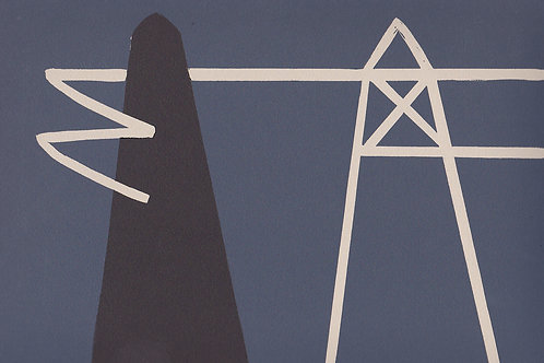 'Black Structure' relief print on paper 200 x 300mm