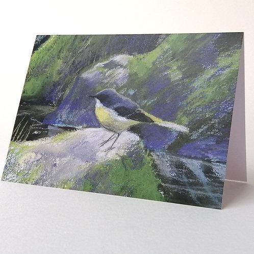 'Grey Wagtail at Rheged' greeting card