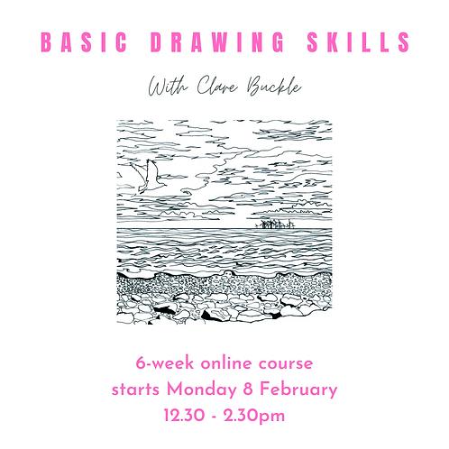 6-week online course Basic Drawing Skills starts Monday 8 February 2021