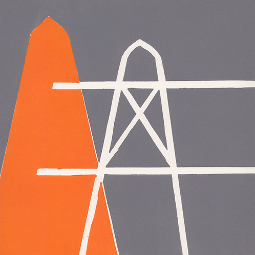 'Cone I' relief print on paper 180 x 180mm